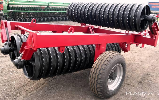 Compacting preseeding roller / Каток прикатывающий