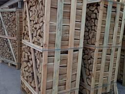 Колотые дрова дуб, граб в ящиках 2RM DAP