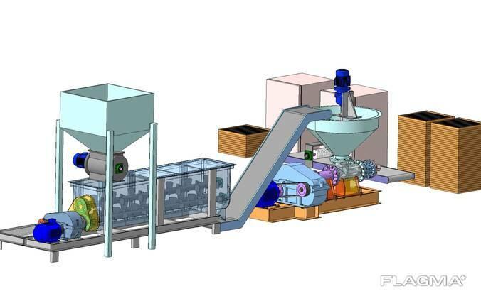 Пресс для производства брикетов