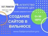Создание сайта в Вильнюсе PR агентство низких цен - фото 2
