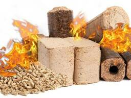 We sell fuel briquettes, fuel pellets, kindling, firewood